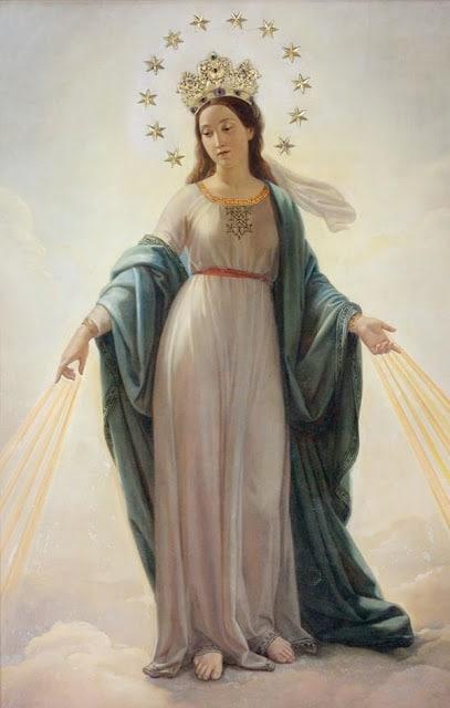Virgen del milagro, madonna del miracolo, cuadro de la iglesia San Andres de Roma