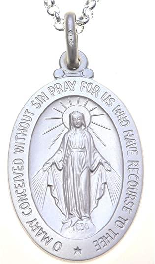 medalla milagrosa plata